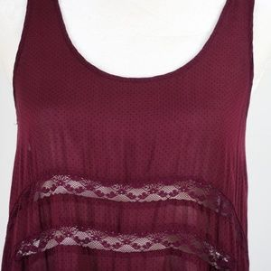 Free People Dresses - Free People Voile & Lace Trapeze Slip - Blackberry